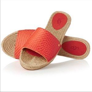 Ugg Cherry Exotic Espadrille Slide Sandal